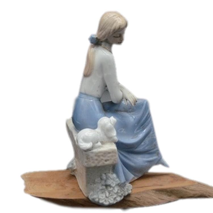景德镇陶瓷欧式西洋女孩人物摆件