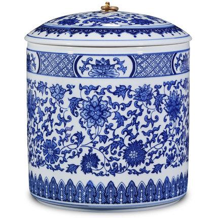 陶瓷色釉茶叶罐礼盒装锡盖大号家用密封储物罐红茶普洱
