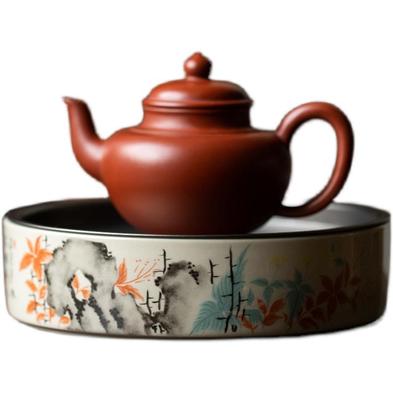 陶瓷泡茶台储水圆形壶