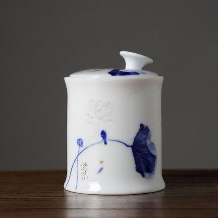 景德镇茶叶罐陶瓷家用密封罐青瓷白茶红茶绿茶普洱储存罐