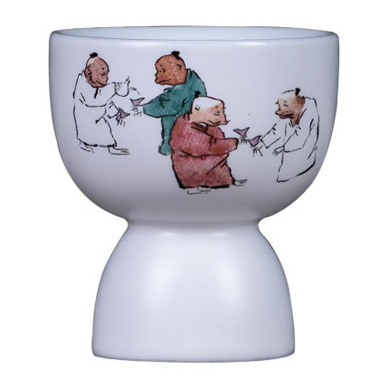 仿古白瓷陶瓷酒杯
