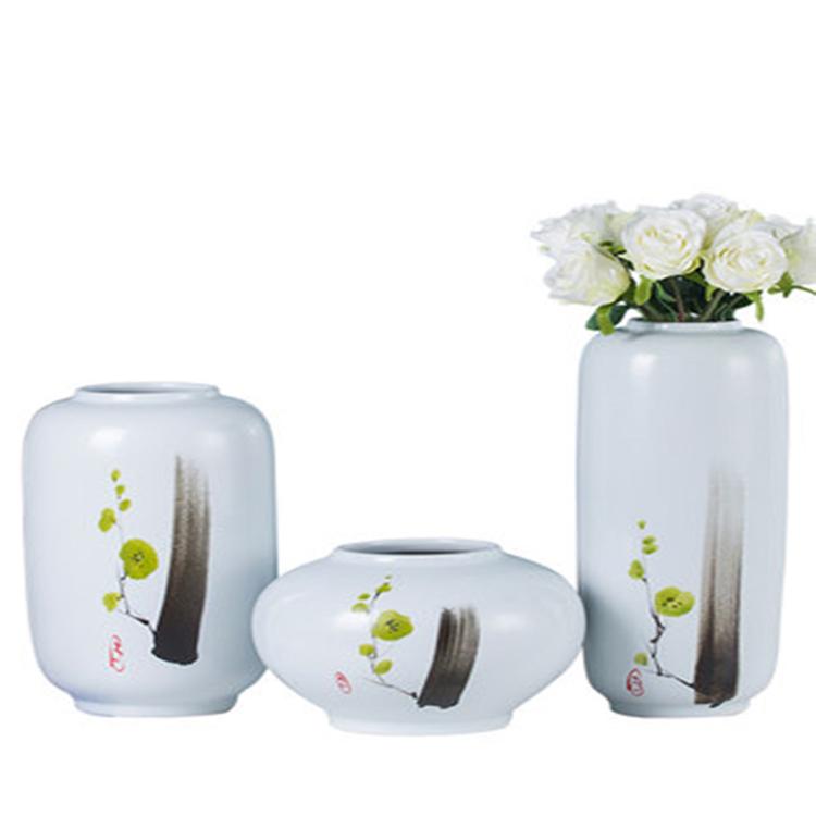 景德镇新中式现代陶瓷三件套花瓶摆件