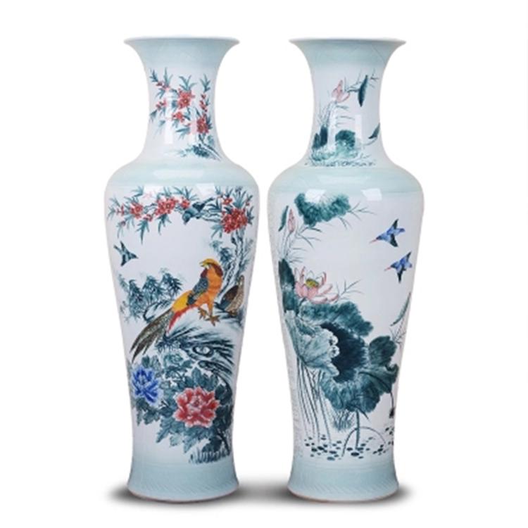 景德镇陶瓷中式客厅花瓶