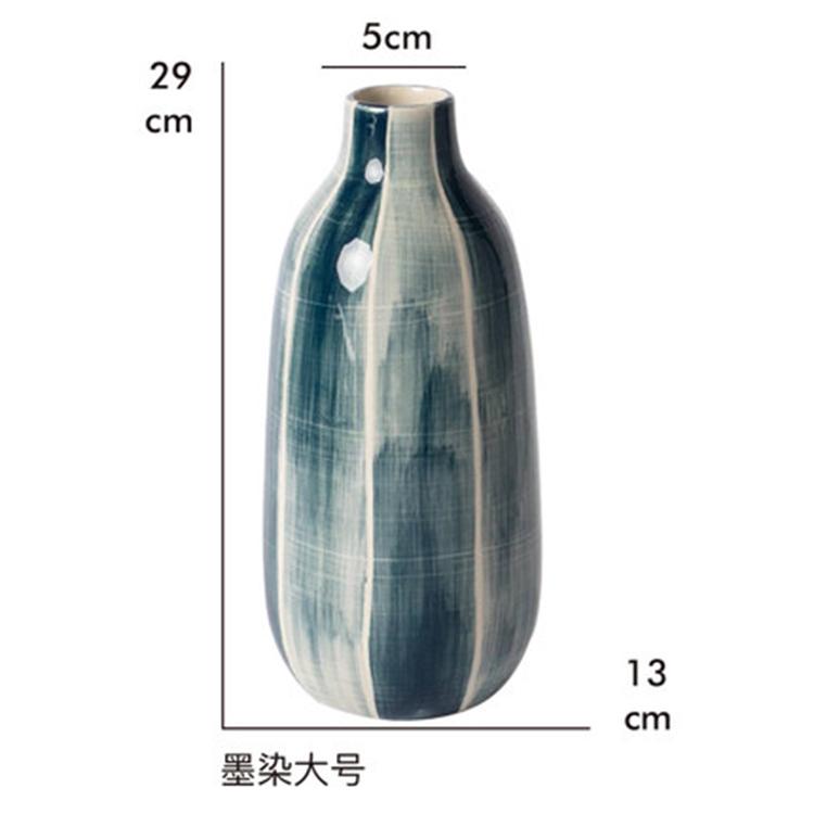 景德镇陶瓷蓝色插花瓶摆件简约家用客厅卧室工艺装饰