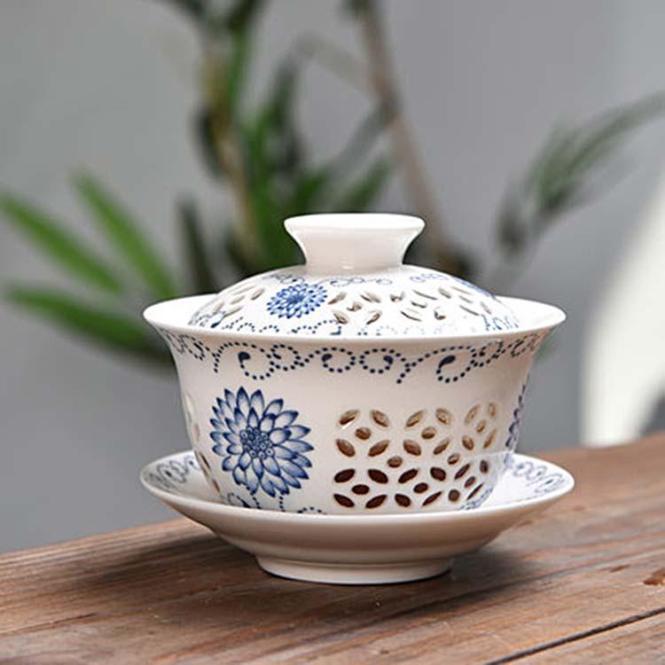 中式盖碗茶杯茶碗