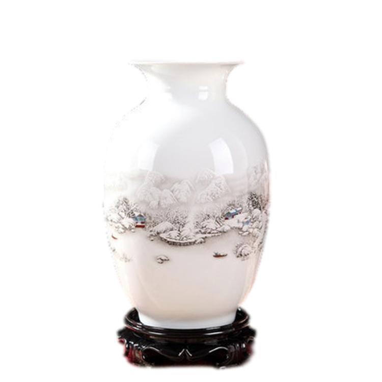景德镇陶瓷器中式花瓶摆件