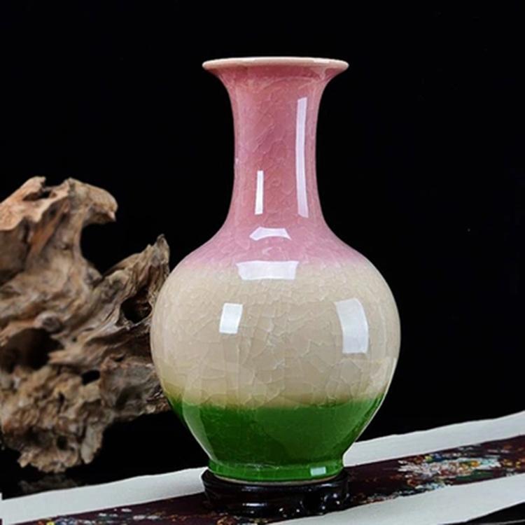景德镇陶瓷器三色釉花瓶