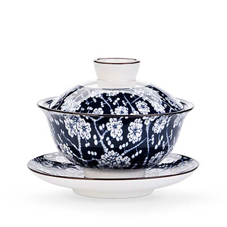 陶瓷盖碗三才茶杯茶具