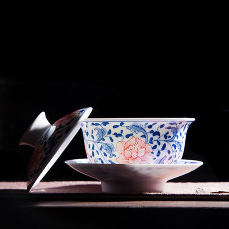 中式创意盖碗泡茶杯