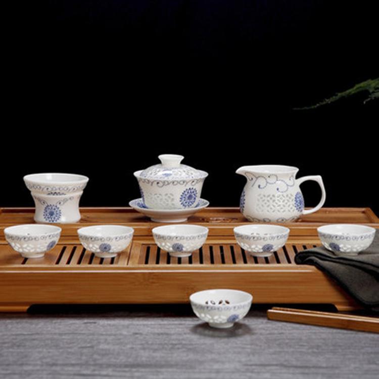中式景德镇陶瓷茶具套装