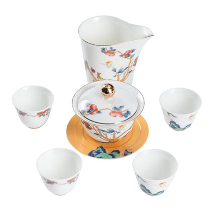 景德镇白瓷功夫茶具