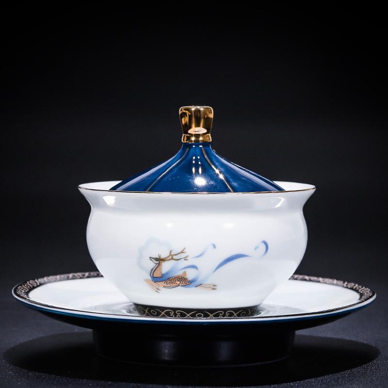 泡茶盖碗茶具套装