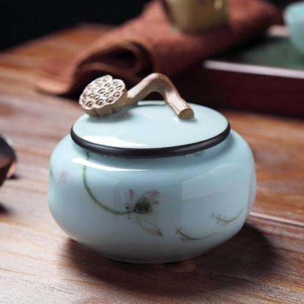 景德镇青花釉里红仿古陶瓷茶叶罐