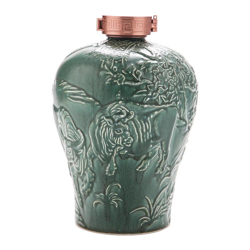 5斤装陶瓷酒瓶古风空酒瓶