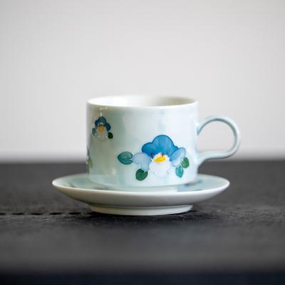 欧式骨瓷奢华咖啡杯碟套装