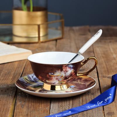骨瓷复古咖啡杯套装