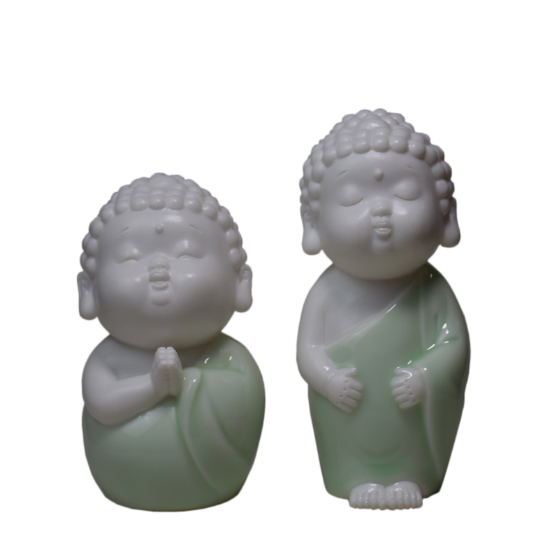 景德镇陶瓷如来茶宠雕塑瓷摆件