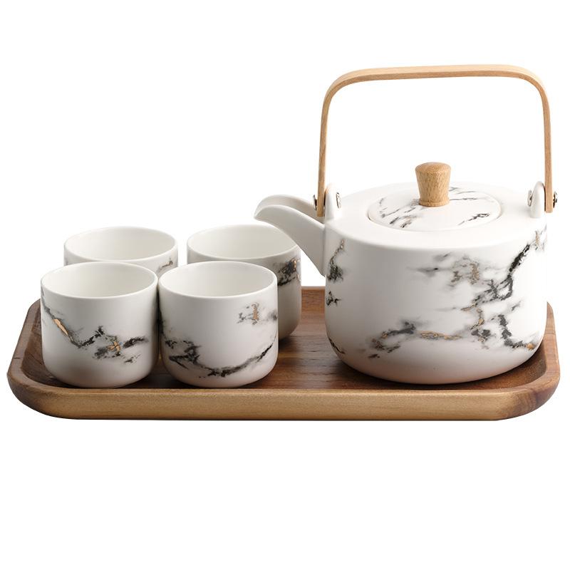 北欧金边茶具