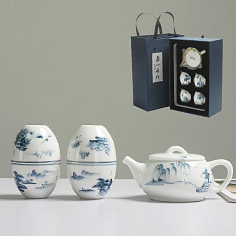 玲珑镂空陶瓷功夫茶具