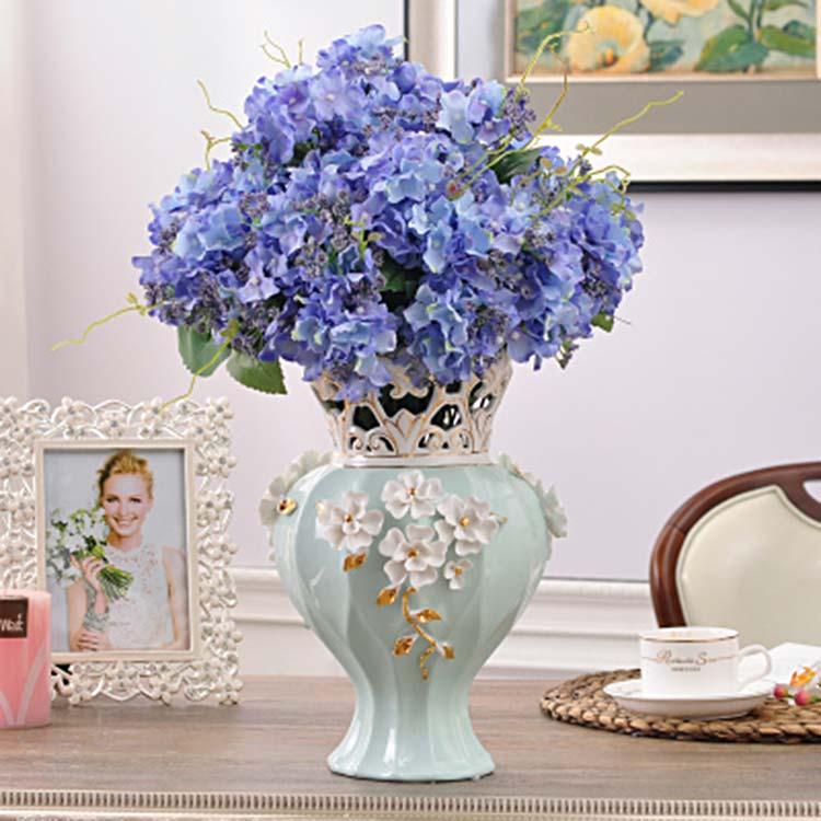 景德镇陶瓷现代欧式花瓶摆件