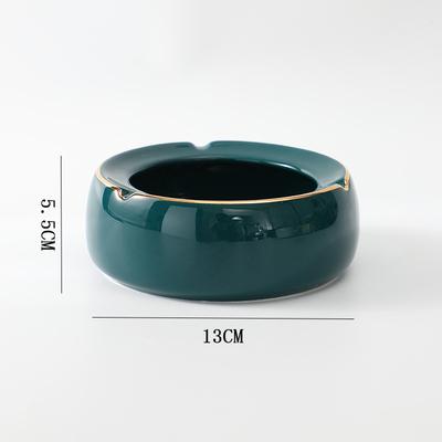 北欧陶瓷创意家用带盖烟灰缸