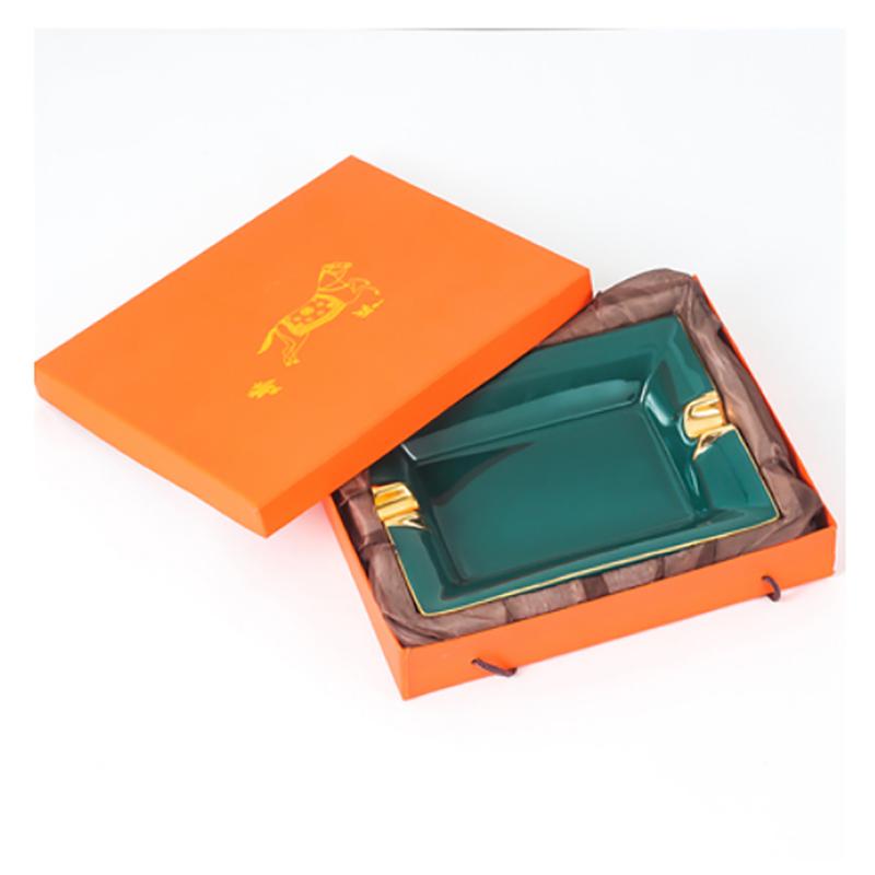 中式陶瓷创意雪茄烟灰缸
