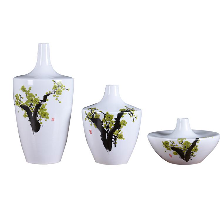 景德镇陶瓷新中式禅意水墨风花瓶摆件