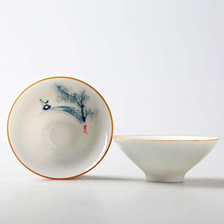 景德镇手绘陶瓷茶杯品茗杯