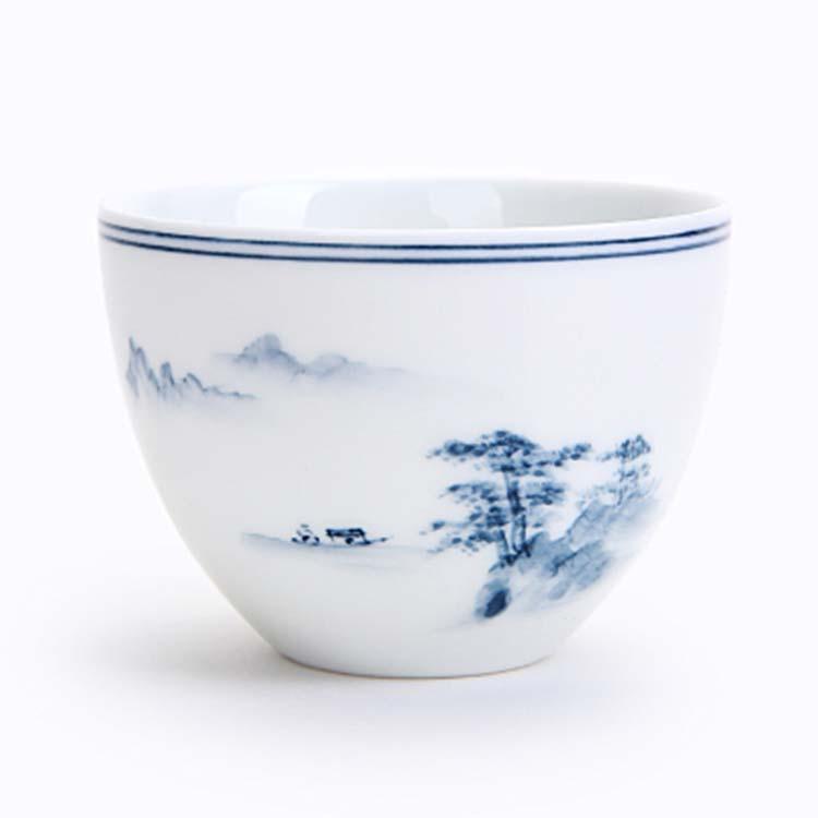 中式手绘陶瓷茶杯品茗杯