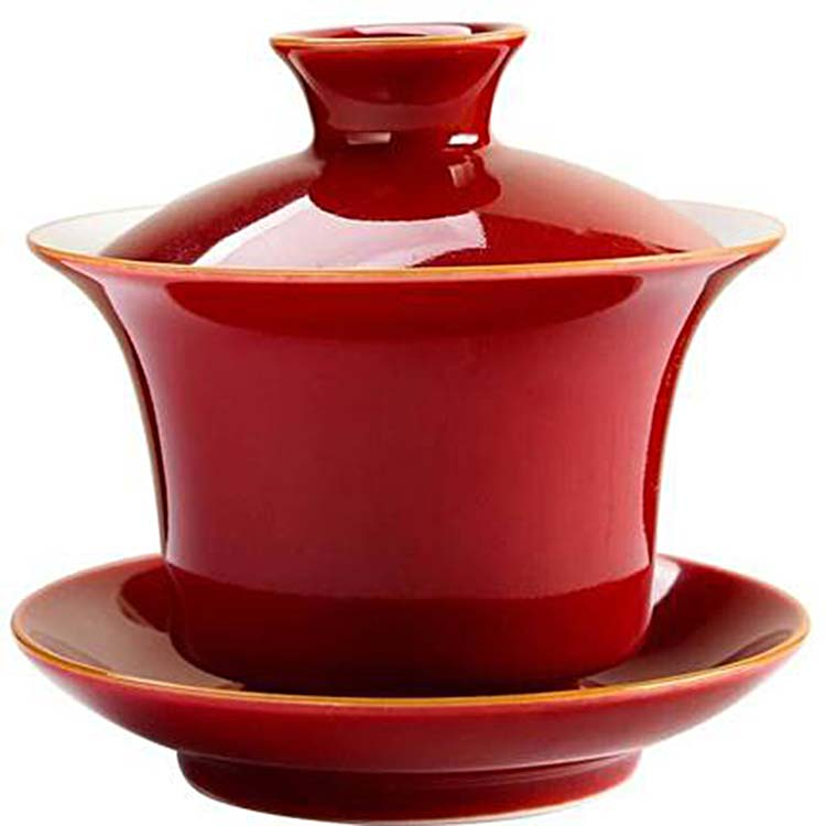 复古景德镇盖碗茶杯