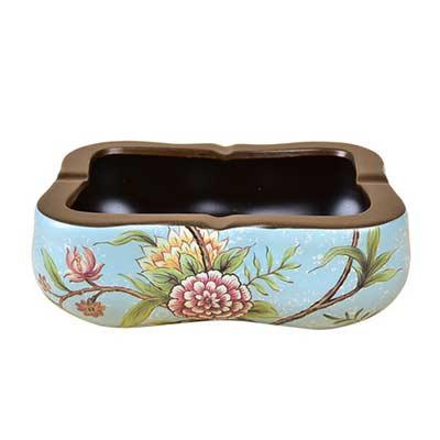 中式陶瓷烟灰缸