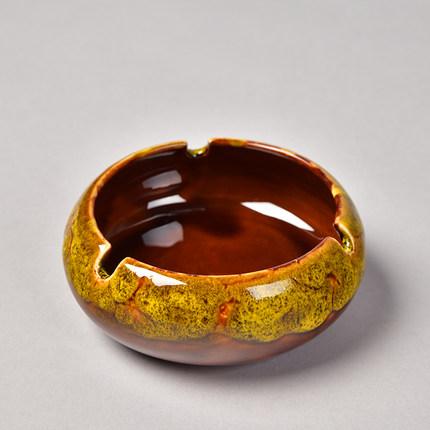 创意个性陶瓷烟灰缸摆件