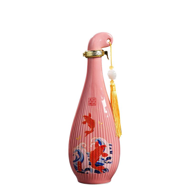 复古陶瓷酒瓶1斤装