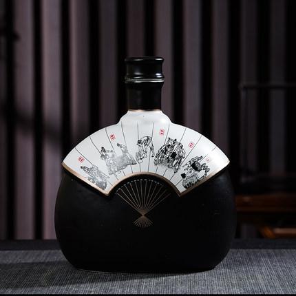 仿古中式陶瓷酒坛1斤装