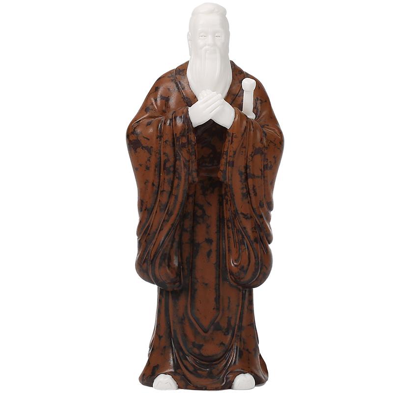 陶瓷孔子雕像摆件