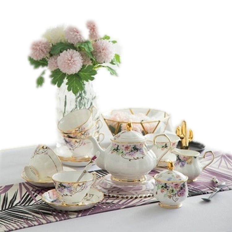 陶瓷欧式金边创意咖啡杯套装