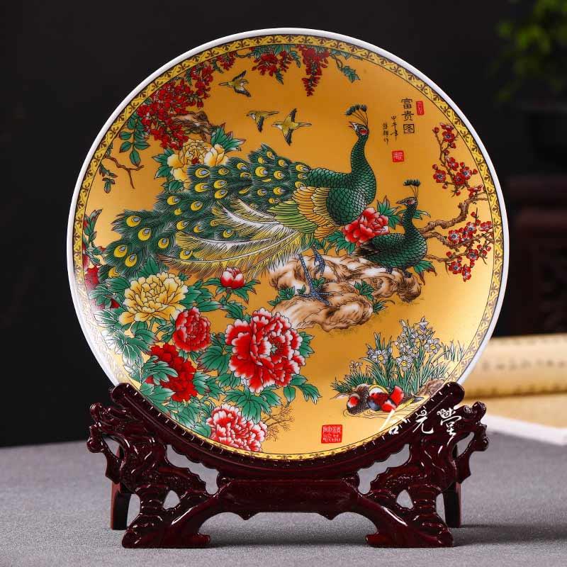 定做景德镇陶瓷装饰盘工艺品
