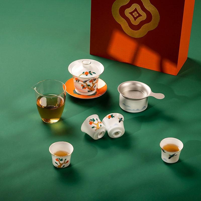 景德镇陶瓷功夫茶具套装 家居泡茶茶具套装礼品