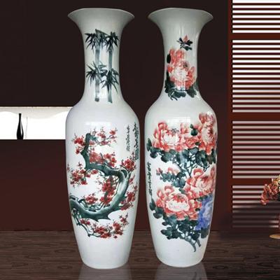 景德镇手绘花开富贵大花瓶