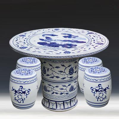 景德镇陶瓷桌凳套装阳台露台户外休闲桌凳
