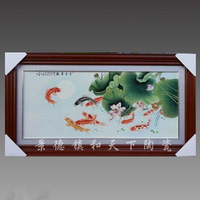 景德镇陶瓷名家手绘瓷板画