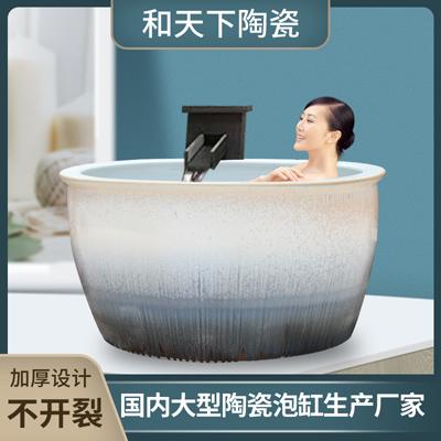 景德镇黑色圆形浴缸