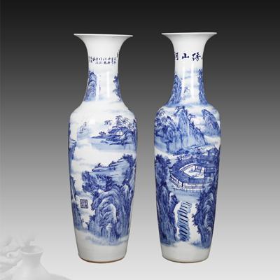 景德镇陶瓷器落地大花瓶