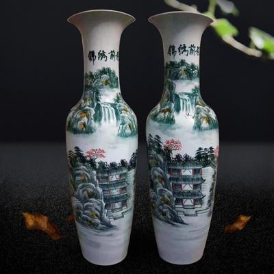 景德镇陶瓷花瓶仿古清明上河图青花瓷落地大花瓶宾馆酒店大堂