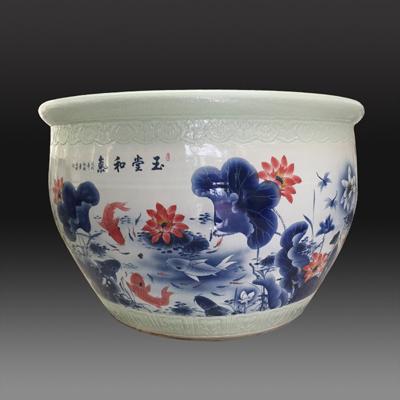 粉墨图百子图大水缸 镇宅陶瓷大缸 大缸价格