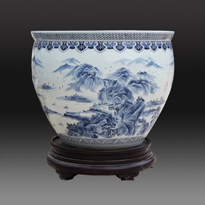 喜庆乔迁送礼大缸 清明上河图陶瓷大缸 厂家定做大缸