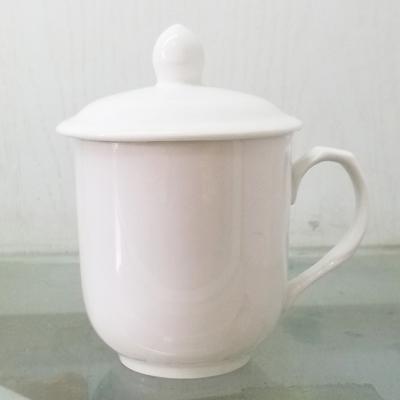 景德镇茶杯陶瓷带盖杯
