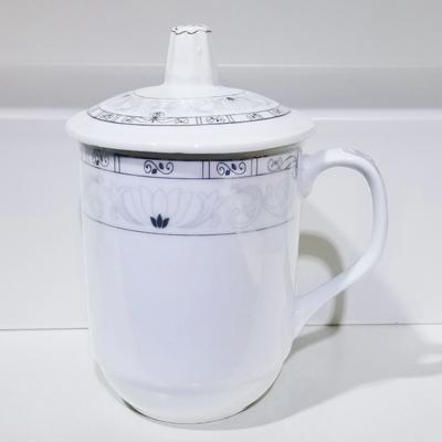 骨瓷茶杯带盖