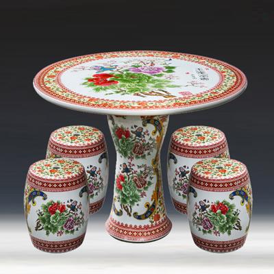 景德镇陶瓷桌凳套装