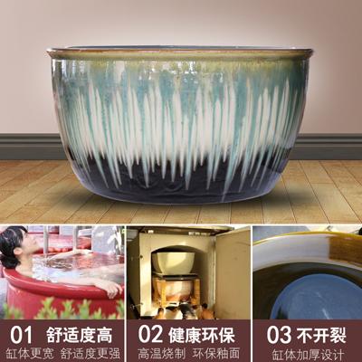 和天下泡澡大缸 定做澡堂陶瓷大水缸 日本极乐汤陶瓷洗浴大缸厂家